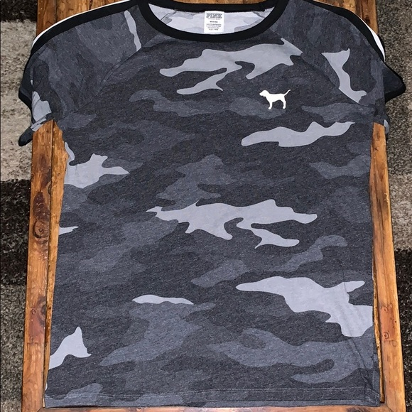 PINK Victoria's Secret Tops - VS PINK camo t-shirt